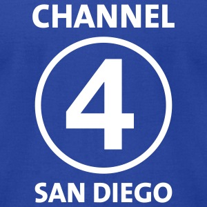 Channel 4 San Diego - Men's T-Shirt by American Apparel