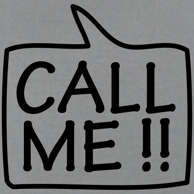 Call Me  - Black T-Shirt for Men