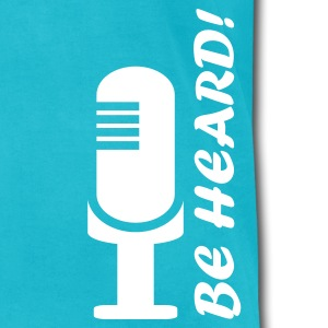 Turquoise Be Heard  By VOM Design - virtualONmars T-Shirts - Men's T-Shirt by American Apparel