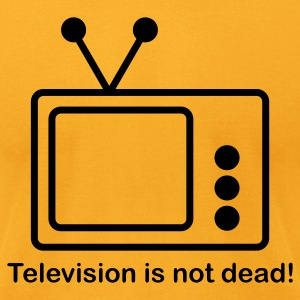 Gold Television is not Dead  By VOM Design - virtualONmars T-Shirts - Men's T-Shirt by American Apparel
