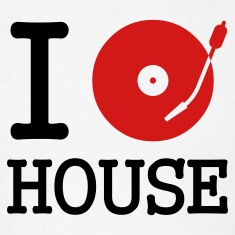 White I dj / play / listen to house T-Shirts