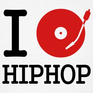 I dj / play / listen to hiphop T-Shirts - T-shirt pour hommes