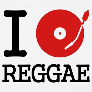 White I dj / play / listen to reggae Women's T-Shirts - Women's T-Shirt