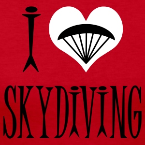 Red I Love Skydiving Long Sleeve Shirts - Women's Long Sleeve Jersey T-Shirt