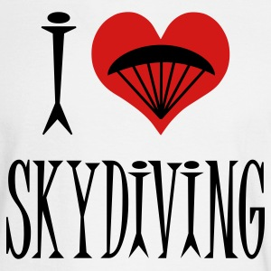 White I Love Skydiving Long Sleeve Shirts - Men's Long Sleeve T-Shirt