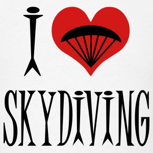 White I Love Skydiving T-Shirts - Men's T-Shirt