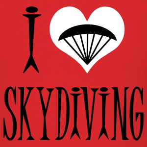 Red I Love Skydiving T-Shirts - Men's T-Shirt