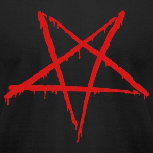 Black Bloody Pentagram T-Shirts - Men's T-Shirt by American Apparel