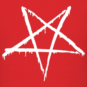 Red Bloody Pentagram T-Shirts - Men's T-Shirt