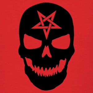 Red Skull Pentagram T-Shirts - Men's T-Shirt