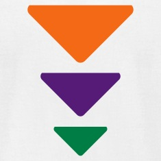 White Triadic Triangles  By VOM Design - virtualONmars T-Shirts