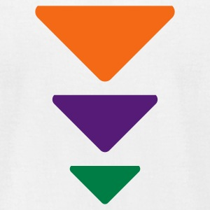 White Triadic Triangles  By VOM Design - virtualONmars T-Shirts - Men's T-Shirt by American Apparel