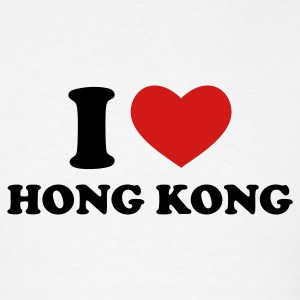 White I Love Hong Kong T-Shirts - Men's T-Shirt