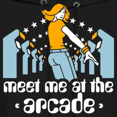 Black Meet me at the arcade Hoodies