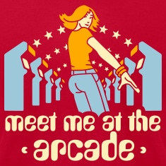 Brown Meet me at the arcade T-Shirts
