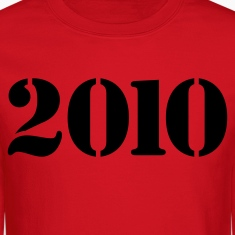 Red 2010 STENCIL Long Sleeve Shirts