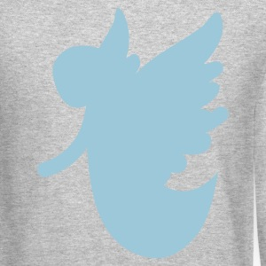 Heather grey angel flying with open arms Long Sleeve Shirts - Crewneck Sweatshirt