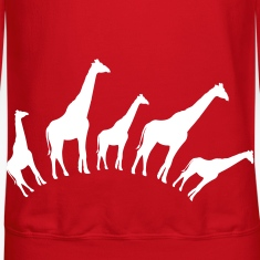 Red giraffe shapes in a row good for babies or maternity Long Sleeve Shirts