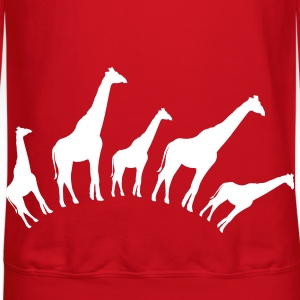 Red giraffe shapes in a row good for babies or maternity Long Sleeve Shirts - Crewneck Sweatshirt
