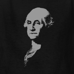 Black George Washington Imprint (Grey) Kids' Shirts - Kids' T-Shirt