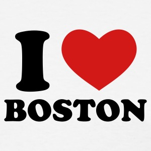 White I Love Boston Women's T-Shirts - Women's T-Shirt