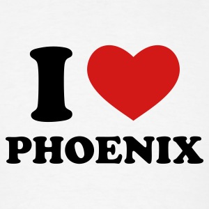 White I Love Phoenix T-Shirts - Men's T-Shirt