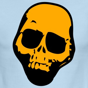 Chocolate/tan SKULL ROUGH WITH NO JAW TATTOO T-Shirts - Men's Ringer T-Shirt