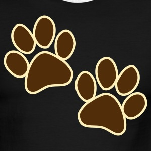 Chocolate/tan CUTE CAT WILDLIFE PAWS  T-Shirts - Men's Ringer T-Shirt