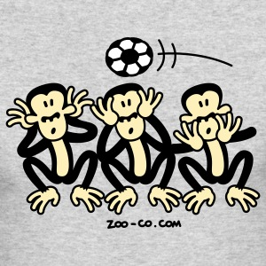 Kelly green Three Wise Soccer Monkeys Long Sleeve Shirts - Men's Long Sleeve T-Shirt by Next Level
