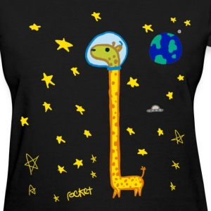 Women's Giraffe In Space - Women's T-Shirt
