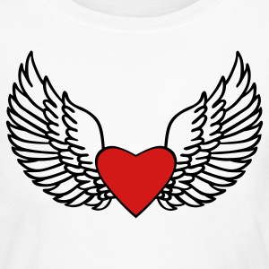 Heart and Wings - Women's Long Sleeve Jersey T-Shirt