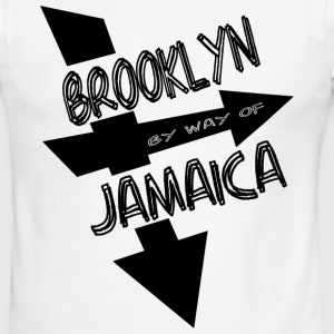 White/black Brooklyn By Way Of Jamaica 2010--DIGITAL DIRECT PRINT T-Shirts - Men's Ringer T-Shirt