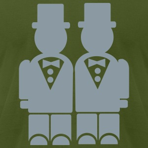 Olive Gay - Wedding T-Shirts - Men's T-Shirt by American Apparel