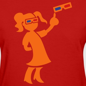 Red KIDS LOVE 3D ! Women's T-Shirts - Women's T-Shirt