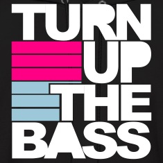 Black Turn Up The Bass Hoodies