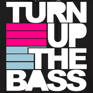Black Turn Up The Bass Hoodies - Men's Hoodie