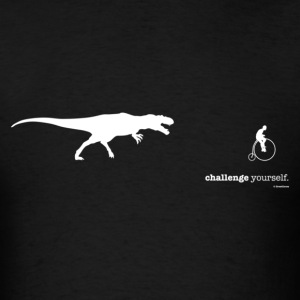 T. Rex: Challenge yourself (white) - Men's T-Shirt