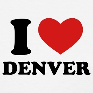 White I Love Denver Women's T-Shirts - Women's T-Shirt