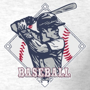 Light oxford Vintage Baseball Diamond  T-Shirts - Men's T-Shirt