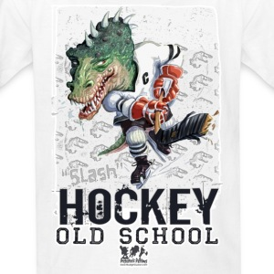 White Dino Hockey Kids' Shirts - Kids' T-Shirt