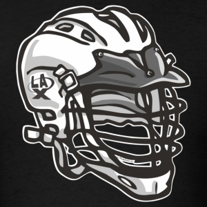 Black LaX Helmet White T-Shirts - Men's T-Shirt