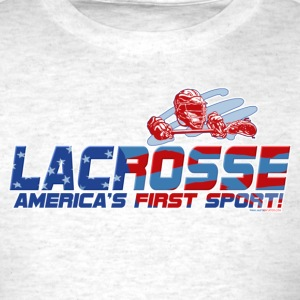 Light oxford Lacrosse America T-Shirts - Men's T-Shirt