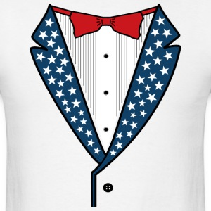 Star Spangled Tuxedo - Men's T-Shirt
