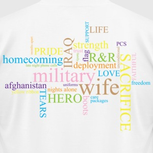 Military Words - Men's T-Shirt by American Apparel