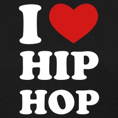 Black I Love Hip Hop Women's T-Shirts