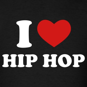 Black I Love Hip Hop T-Shirts - Men's T-Shirt