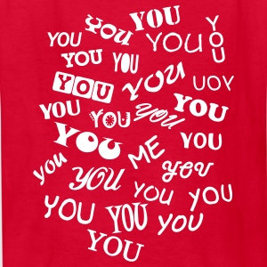 Red you and me - typo Kids' Shirts - Kids' T-Shirt