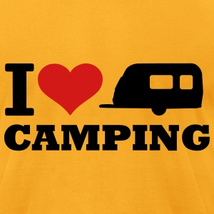 Gold Camping T-Shirts - Men's T-Shirt by American Apparel