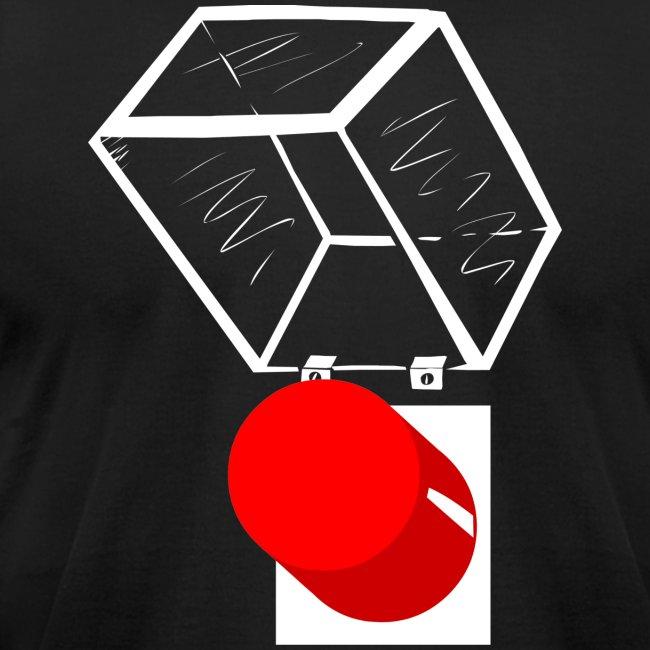 T-Shirt War Button Open