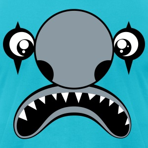 Turquoise Clownster Monster T-Shirts - Men's T-Shirt by American Apparel